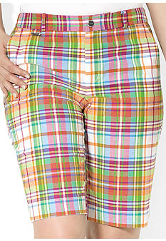 Lauren Ralph Lauren Plus Size Slim-Fit Plaid Bermuda Short