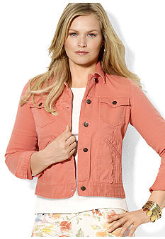 Lauren Ralph Lauren Plus Size Buttoned Jean Jacket