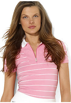 Lauren Ralph Lauren Plus Size Striped Cotton Polo