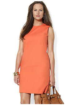 Lauren Ralph Lauren Plus Size Sleeveless Crewneck Dress