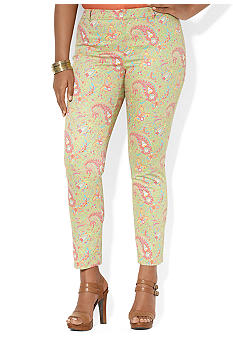 Lauren Ralph Lauren Plus Size Paisley Cotton Ankle Pant