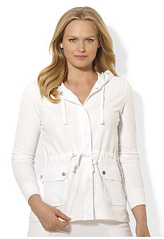 Lauren Ralph Lauren Plus Size Drawcord Cotton Hoodie