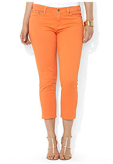 Lauren Ralph Lauren Plus Size Slimming Cropped Straight Jeans