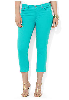 Lauren Ralph Lauren Plus Size Slimming Cropped Straight Jean