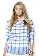 Lauren Ralph Lauren Plus Size Plaid/Striped Work Shirt
