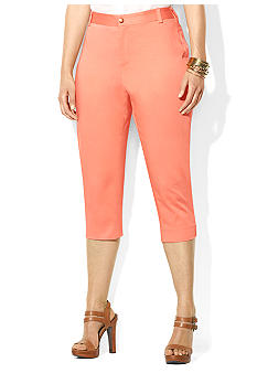 Lauren Ralph Lauren Plus Size Stretch-Cotton Pant
