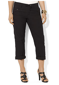 Lauren Ralph Lauren Plus Size Drawstring Cotton Cropped Pant