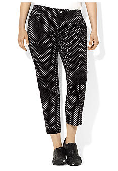 Lauren Ralph Lauren Plus Size Polka-Dot Cotton Crop Pant