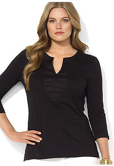 Lauren Ralph Lauren Plus Size Combed Cotton Tunic