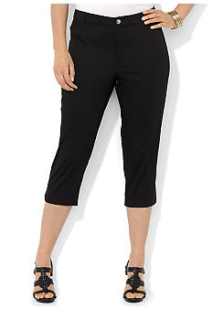Lauren Ralph Lauren Plus Size Stretch-Cotton Crop