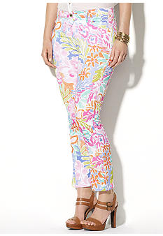 Lauren Ralph Lauren Plus Size Stretch-Cotton Floral-Print Pant