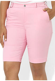 Lauren Ralph Lauren Plus Size Stretch Cotton Bermuda Short