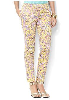 Lauren Ralph Lauren Plus Size Slim Paisley Stretch Pant