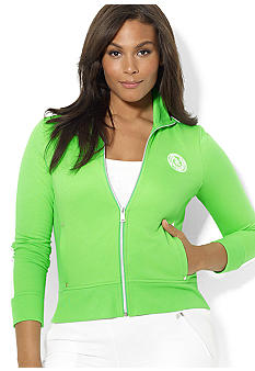 Lauren Ralph Lauren Plus Size Full-Zip Mockneck Jacket