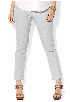 Lauren Ralph Lauren Plus Size Pinstriped Ankle Pant