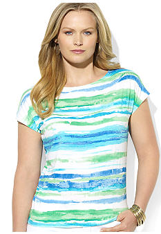 Lauren Ralph Lauren Plus Size Striped Dolman Top