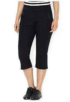 Lauren Ralph Lauren Plus Size Stretch Cotton Crop Pant