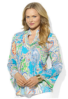 Lauren Ralph Lauren Plus Size Paisley Cotton Tunic
