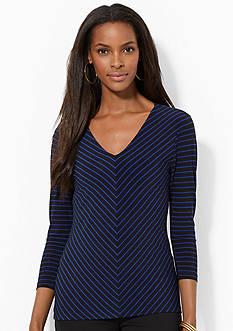 Lauren Ralph Lauren Plus Size Three-Quarter-Sleeved Top<br>