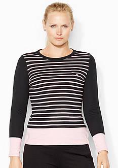 Lauren Ralph Lauren Plus Size Striped Cotton Shirt<br>