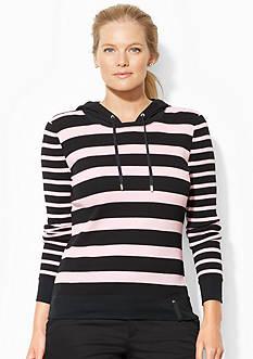 Lauren Ralph Lauren Plus Size Striped Scoopneck Hoodie<br>