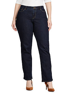 Lauren Ralph Lauren Plus Size Super Stretch Slimming Modern Curvy Jean
