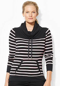 Lauren Ralph Lauren Plus Size Striped Funnelneck Pullover<br>