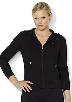Lauren Ralph Lauren Plus Size Full-Zip Jersey Hoodie