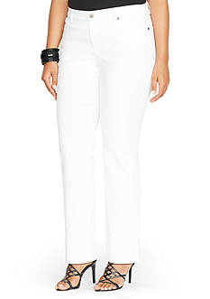 Lauren Ralph Lauren Plus Size Super-Stretch Modern Curvy White-Wash Jean