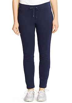 Lauren Ralph Lauren Plus Size Skinny Cotton Drawstring Pants