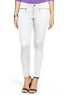 Lauren Ralph Lauren Plus Size Zip Pocket Skinny Pants