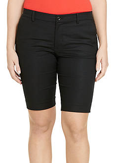 Lauren Ralph Lauren Plus Size Stretch Cotton Short