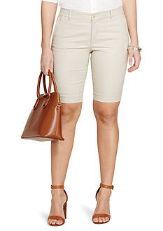Lauren Ralph Lauren Plus Size Stretch-Cotton Short