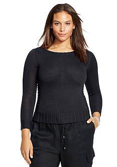 Lauren Ralph Lauren Plus Size Bateau-Neck Sweater