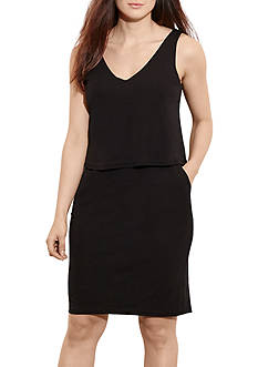 Lauren by Ralph Lauren Plus Size Dondi Sleeveless Casual Dress