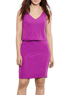 Lauren Ralph Lauren Plus Size Dondi Sleeveless Casual Dress