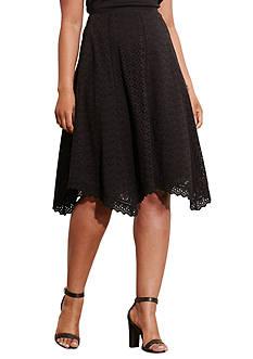 Lauren Ralph Lauren Plus Size Eyelet Cotton Skirt