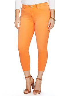 Lauren Ralph Lauren Plus Size Premier Cropped Skinny Jeans