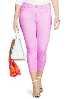 Lauren Ralph Lauren Plus Size Premier Cropped Skinny Jean
