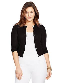 Lauren Ralph Lauren Plus Size Crewneck Cardigan
