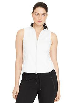 Lauren Ralph Lauren Plus Size Full-Zip Mock Neckline Vest