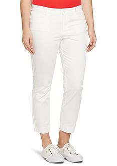 Lauren Ralph Lauren Plus Size Cotton Sateen Skinny Pant