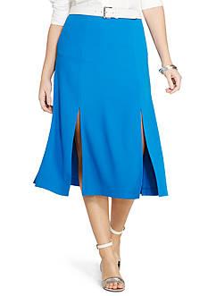Lauren Ralph Lauren Plus Size Crepe A-Line Skirt