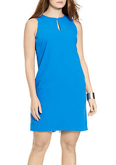 Lauren Ralph Lauren Plus Size Sleeveless Satin Dress