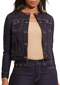 Lauren Ralph Lauren Plus Size Carstina Denim Jacket