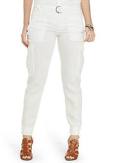 Lauren Ralph Lauren Plus Size Linen Cargo Pants