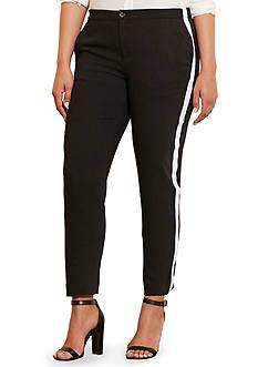 Lauren Ralph Lauren Plus Size Sueded Crepe Tuxedo Pants