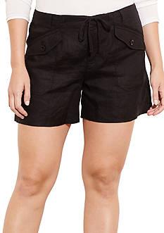 Lauren Ralph Lauren Plus Size Linen Drawstring Short
