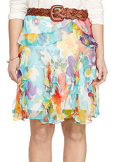 Lauren Ralph Lauren Plus Size Printed Georgette Skirt