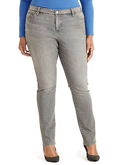 Lauren Ralph Lauren Plus Size Premier Stretch Straight Jean